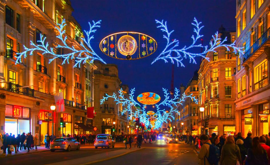 شارع ريجنت في لندن أثناء يوم الصناديق