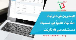 البحرين في المرتبة الثانية عالمياً في نسبة مستخدمي الإنترنت