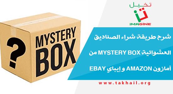 شرح طريقة شراء الصناديق العشوائية Mystery Box من أمازون Amazon و إيباي Ebay