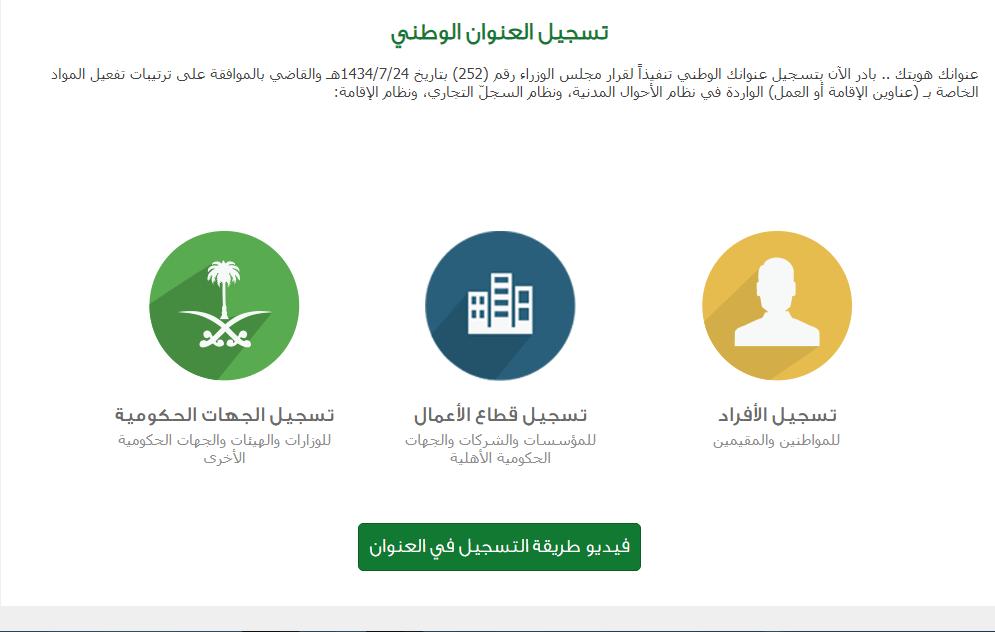 طريقة تسجيل العنوان الوطني السعودي برقم الهوية وأهم مميزات التسجيل2