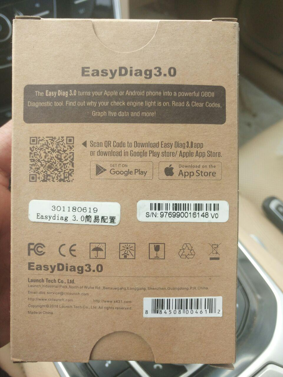 تجربة شراء EasyDiag 3.0 لفحص وتشخيص اعطال السيارات