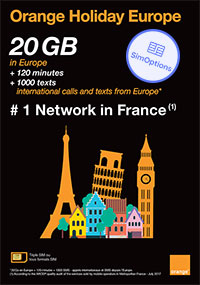 Orange Holiday Europe Sim Card