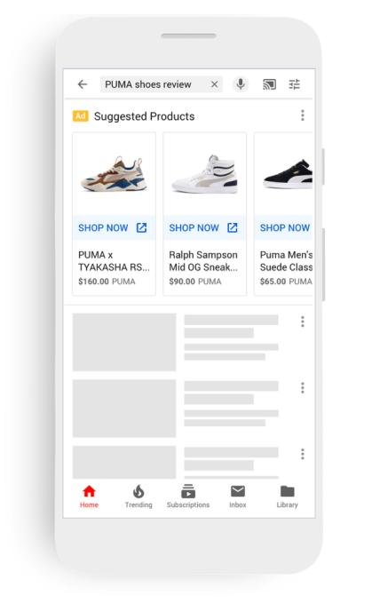 جوجل Google تتيح ميزة إعلانات التسوق عبر اليوتيوب YouTube1