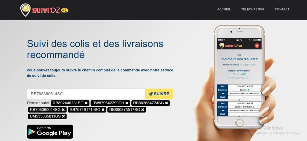 موقع و تطبيق SUIVI DZ لتتبع الطرود البريدية في الجزائر1