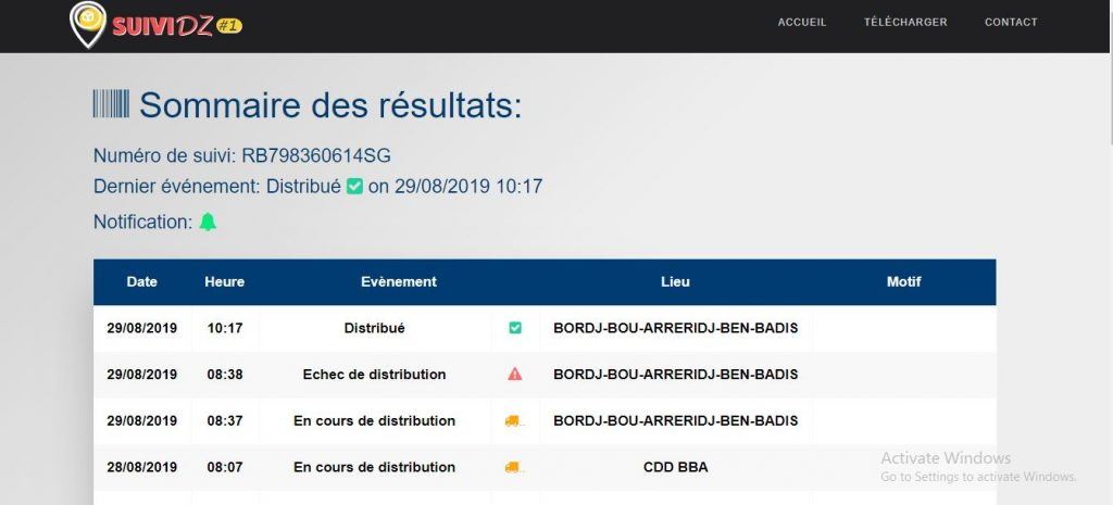 موقع و تطبيق SUIVI DZ لتتبع الطرود البريدية في الجزائر2